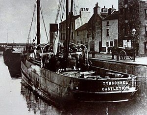 SS Tyrconnel (1892) - Tyrconnel pictured berthed at her home port, Castletown.