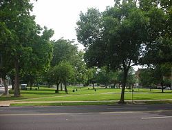 A park in St. Louis Place neighborhood.