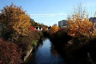 Saalbach (Rhine) river in Germany