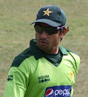 English cricket team against Pakistan in the UAE in 2011–12 - Saeed Ajmal became the fastest Pakistan bowler to reach 100 Test wickets.