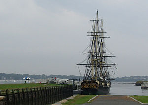 English: Sailing Ship in New England