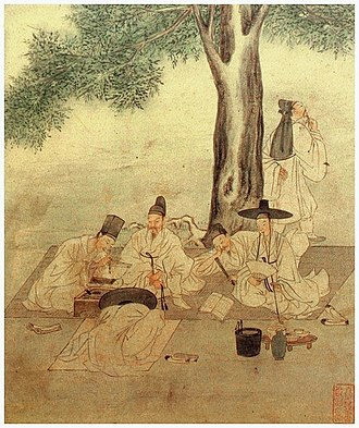 "Gentry - Group of Seonbi ""virtuous scholar"" in Korea that followed confucian precepts)  (c. 18th century)"