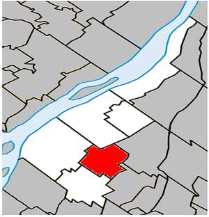 Saint-Amable, Quebec - Image: Saint Amable Quebec location diagram