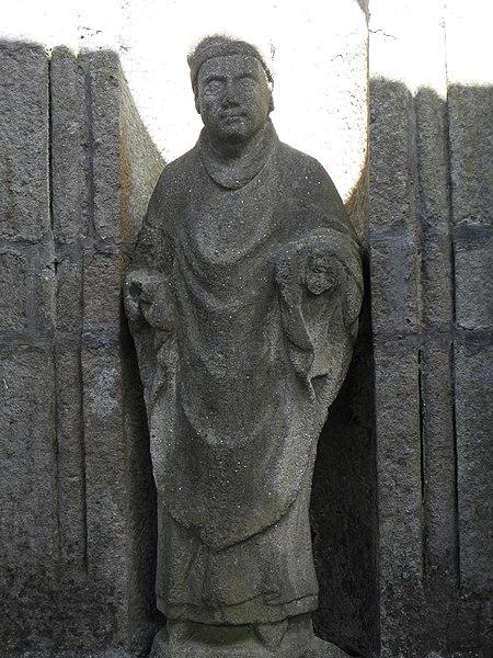 Fontaine et lavoir Saint-Caradec à Saint-Caradec-Trégomel (56).