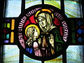 Saint Aloysius Catholic Church (Bowling Green, Ohio) - stained glass, arcade, Saint Anne and the Virgin.jpg
