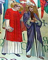 Saint Anthony of Padua Catholic Church (Dayton, Ohio) - mural detail, Sts. Stephen and Paul.JPG