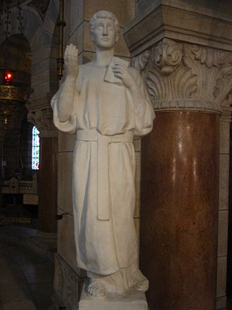 Ferreolus and Ferrutio - Statue of Ferrutio of Besançon. Basilique Saint-Ferjeux, near Besançon.