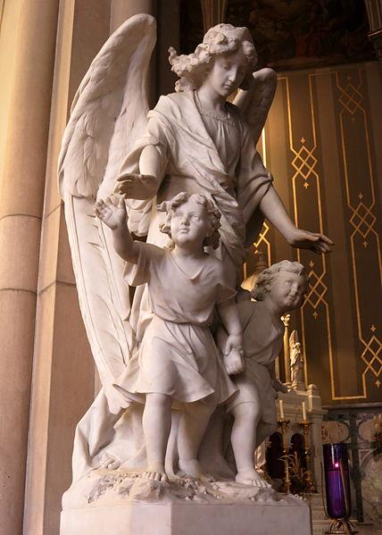 Saint Mary Catholic Church (Dayton, Ohio) - Guardian angel statue dans immagini sacre