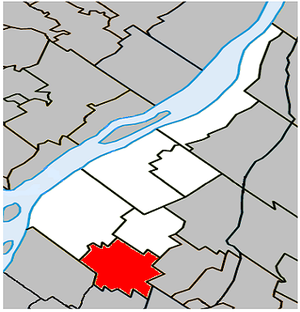 Sainte-Julie, Quebec - Image: Sainte Julie Quebec location diagram