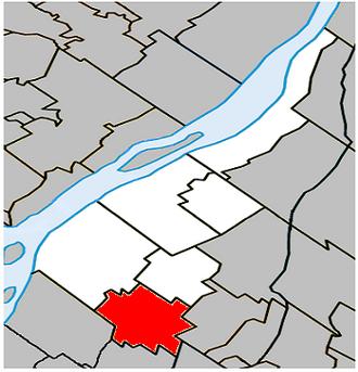 Sainte-Julie, Quebec - Image: Sainte Julie Quebec location diagram