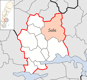 Sala Municipality, Sweden - Image: Sala Municipality in Västmanland County