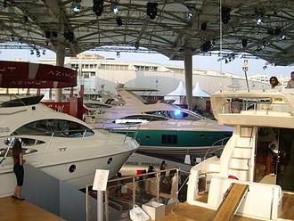 Genoa International Boat Show - indoor exhibition space