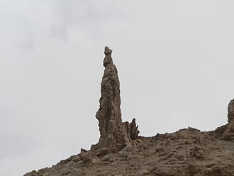 Lot's wife - Image: Salt Pillar Dead Sea