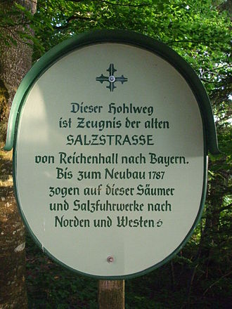 Salt road - Sign for historic salt road in Bavaria