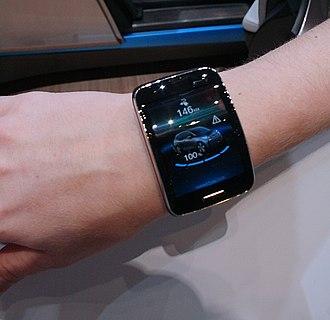Samsung Gear S - Image: Samsung Gear S app for BMW i 3