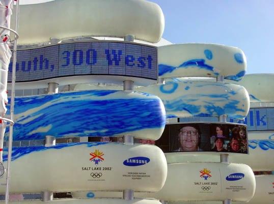 Samsung display Salt Lake Olympics