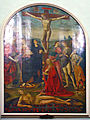 San Frediano in cestello, Jacopo del Sellaio, Crocifissione con i santi e il Martirio di San Lorenzo.JPG