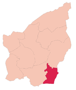 Montegiardino's location in San Marino