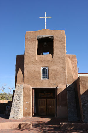 San Miguel Mission - The front exterior to the Chapel of San Miguel.