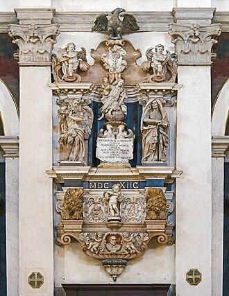 Cristoforo Ivanovich - Funerary monument of Cristoforo Ivanovich by Marco Beltrame.