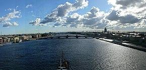 San Petersburgo, panorámica del Rio Neva