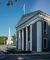 Sandwich (MA) Town Hall and church.jpg