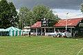 Sandwich Town CC cricket pavilion at Sandwich, Kent, England 02.jpg