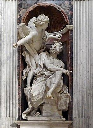 Habakkuk and the Angel (Bernini) - Image: Santa Maria del Popolo Capella Chigi Bernini Habakuk