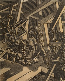 David Bomberg's Sappers at Work: Canadian Tunnelling Company, R14, St Eloi; 1918.[154]