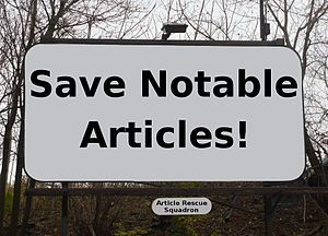 English: Save Notable Articles! - Wikipedia Ar...
