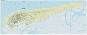 Schiermonnikoog - Dutch topographic map of Schiermonnikoog, Sept. 2014