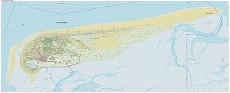 Schiermonnikoog - Dutch topographic map of Schiermonnikoog, Sept. 2014