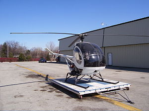 Schweizer 300 - Schweizer 300CB on hangar dolly