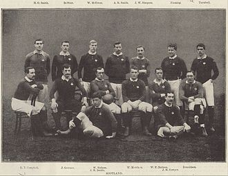 History of rugby union in Scotland - The Scotland team of 1896.