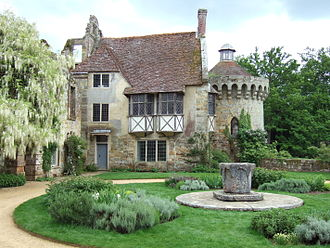 Barnabe Googe - Tudor revival house at Scotney Castle which replaced the home of Googe's wife, Mary Darrell