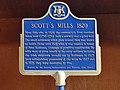 Scott's Mills 1820 plaque - Water Street Peterborough Ontario.jpg