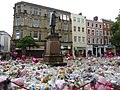 Sea of floral tributes, St Ann's Square, Manchester - Tuesday 6th June 2017.jpg