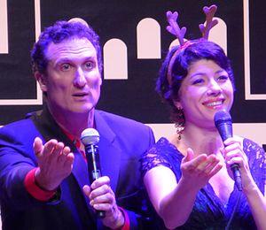 Sean Altman - Altman and Inna Dukach at the BAMCafé, December 2015