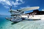 Seaplane on the beach at Fort Jefferson- Garden Key, Dry Tortugas, Florida (8576692305).jpg