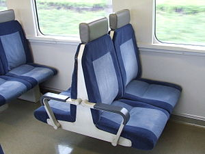 215 series - Image: Seat of JR 215