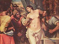 Pentraĵo de Sebastiano del Piombo pri la torturado de Sankta Agata