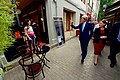 Secretary Kerry Waves to a Wine Shop Owner in the Historic District of Tbilisi (27517598413).jpg