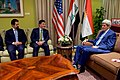 Secretary Kerry and His Advisers Meet With Kurdistan Regional Government Prime Minister Barzani, Deputy Prime Minister Talabani, and Chief of Staff Dr. Hussein in Baghdad (26214772692).jpg