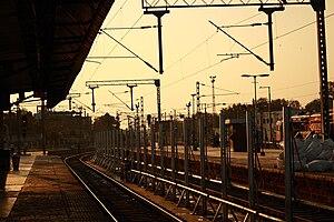 Secunderabad Junction railway station - The Platform No.10 at twilight