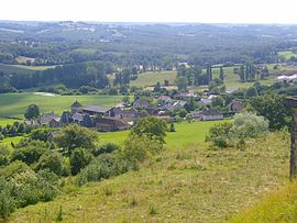 The village of Segonzac seen from the Puy de Segonzac