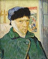tableau montrant un homme à l'oreille droite bandée