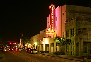 Homestead, Florida - Seminole Theatre in downtown Homestead