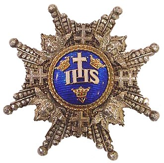 Royal Order of the Seraphim - Image: Serafijnorde;ster