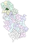 Location of Novi Sad within Serbia