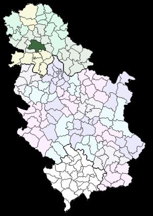 Location of Novi Sad within Serbia